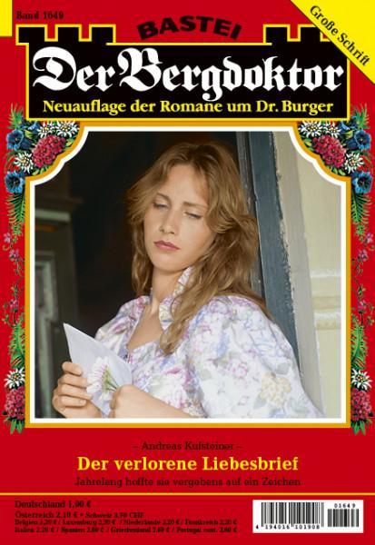 Der Bergdoktor 2. Auflage 1649: Der verlorene Liebesbrief
